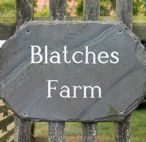 Blatches Farm stone sign