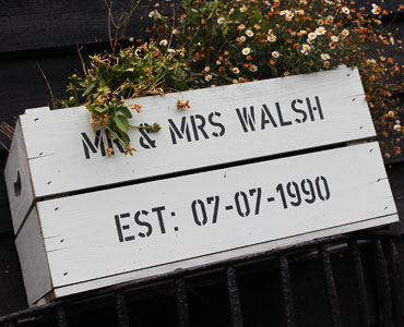 Mr and Mrs Walsh est 07/07/1990