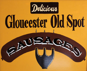 Gloucester old spot sausages